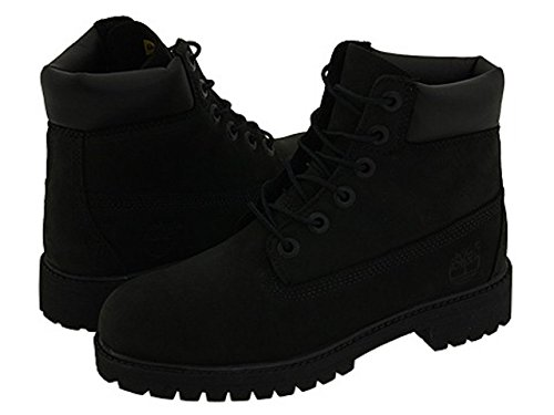 Timberland 6'' Premium Waterproof Boot (Toddler/Little Kid/Big Kid) (6 M US BIG KID, Original Black/Nubuck) by Timberland
