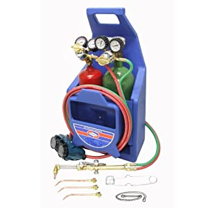 Uniweld KL71-4P-T Patriot Weld, Braze and Cut Outfit with 511 Plastic Carrying Stand and Tanks