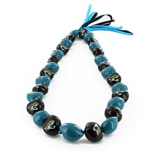 - aminco NFL Jacksonville Jaguars Kukui Nut Necklace, Black/Blue