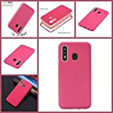 Cfrau 3 in 1 Case with Black Stylus Compatible with Samsung Galaxy A20/A30,Stylish Ultra Thin Scratchproof Absorption Heavy Duty Soft Silicone + PC Back Cover Case,Hot Pink