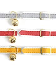 3 X Ancol Reflective Elasticated Cat Collars (Assorted Colors)