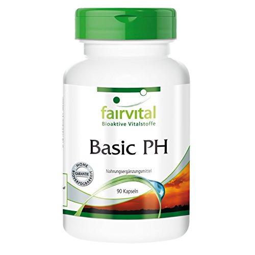 Basic PH - Basenkapseln zur Unterstützung des Säure-Basen-Gleichgewichts - 90 vegetarische Kapseln