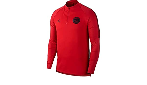 Amazon.com: NIKE Jordan Paris Saint-Germain (PSG) Squad Drill Top (University Red) Small: Sports & Outdoors