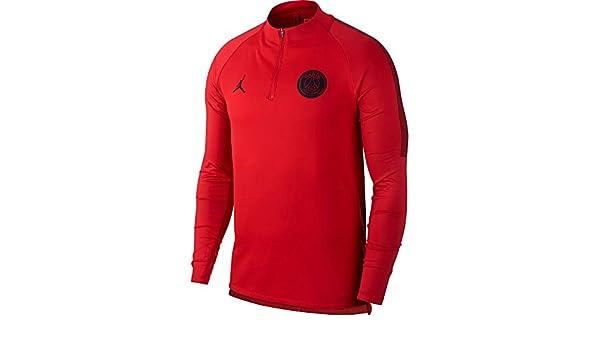 Amazon.com: NIKE Jordan Paris Saint-Germain (PSG) Squad Drill Top (University Red) Small: Sports & Outdoors