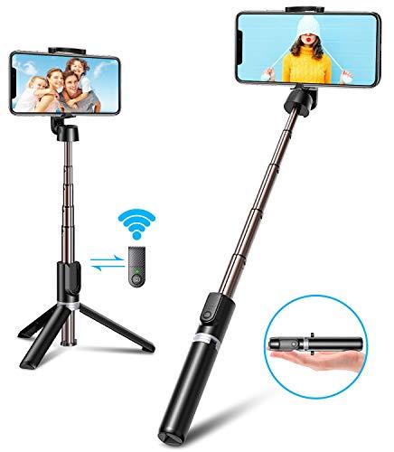 Bovon Bastone Selfie, Mini Estensibile 3 in 1 Selfie Stick Treppiede Smartphone con Telecomando Wireless Compatibile con… 1 spesavip