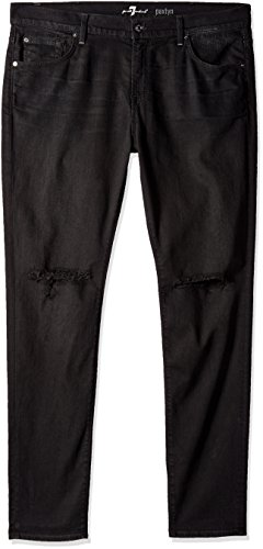 7 For All Mankind Mens Paxtyn Skinny Fit Jean Indie Black 40