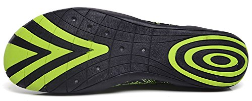 Eagsouni Zapatos de Agua Unisex Hombre Mujer Niña Niños Calzado de Natación Secado Rápid para Buceo Snorkel Surf Piscina Playa Yoga Deportes Acuáticos Verde E