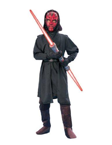[Star Wars Deluxe Darth Maul Child's Costume, Small] (Child Darth Maul Costumes)