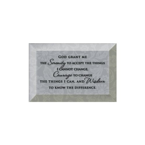 Plaque Beveled Glass (Serenity Prayer Beveled Glass Plaque with Easel)