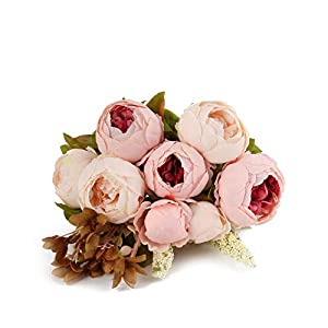 Kimura's Cabin Artificial Silk Flowers Peony Bouquet Floral Plants Home Wedding Party Decoration 31