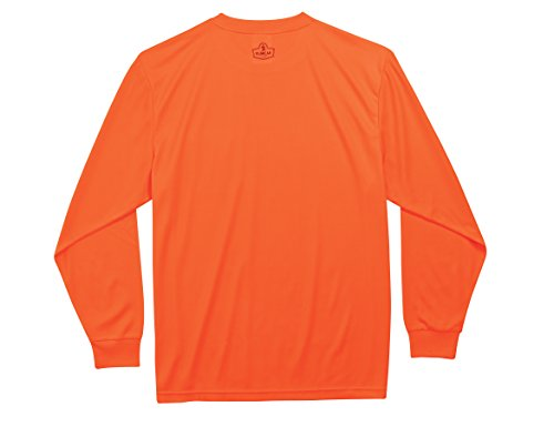 Ergodyne GloWear 8091 Non-Certified Long Sleeve High Visibility T-Shirt, Large, Orange by Ergodyne (Image #2)