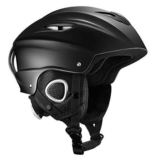 OMORC Ski Helmet,ASTM Certified Safety Ski Helmet for Men,Women&Youth,Goggles&Audio Compatible and Lightweight Ski Helmet,Adjustable Venting