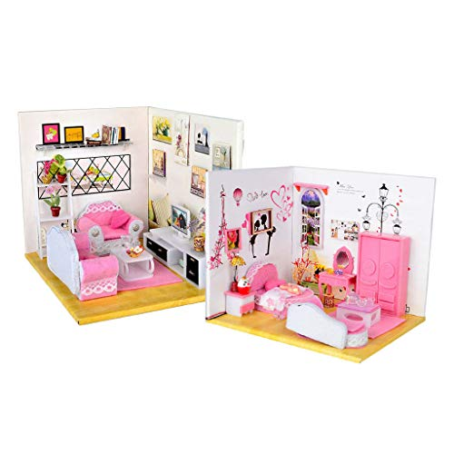 - NATFUR 1:24 DIY Dollhouse Miniature Furniture Bedroom Living Room Collection Gifts