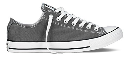 Converse Unisex Chuck Taylor All Star Core Ox Sneaker, Charcoal, Men's 8, Women's 10 Medium