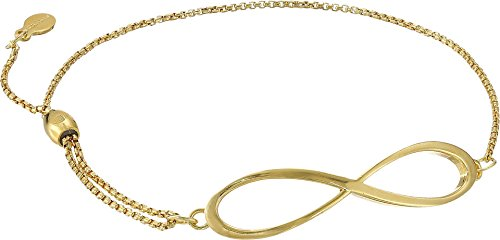 Infinity Pull Chain Bracelet 14kt Gold Plated One Size ()