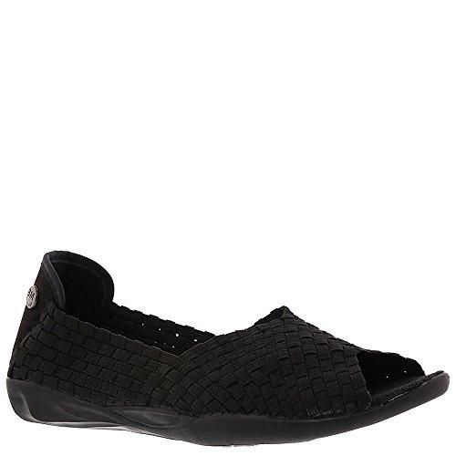 Bernie Mev Women's Dream black Slip-On Flats Shoes Open Toe (38)