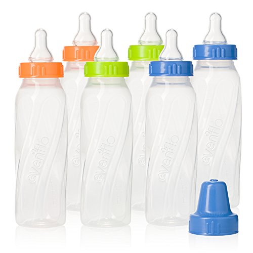 evenflo-feeding-classic-twist-clear-bottles-green-blue-orange-8-ounce-pack-of-12