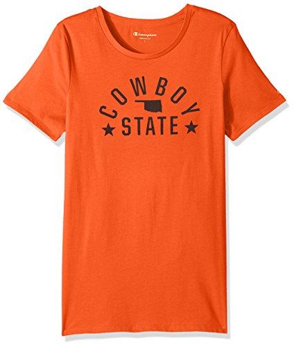 Champion Ncaa Oklahoma State Cowboys Womens University Local T Shirt  Small  Orange