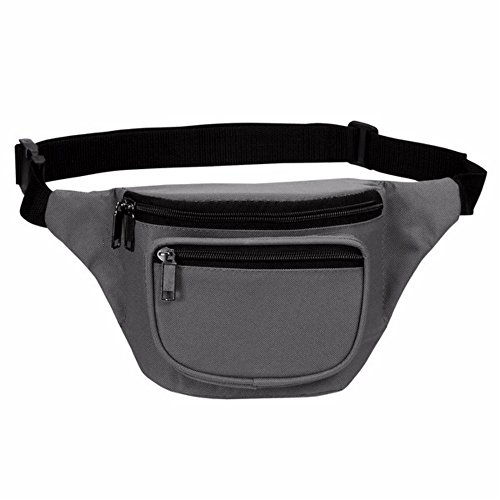 (Fanny Pack, BuyAgain Quick Release Buckle Travel Sport Waist Fanny Pack Bag - Grey)