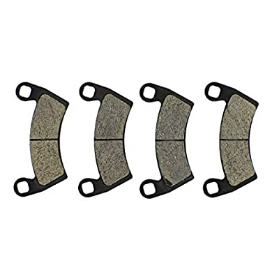 NICHE Front and Rear Semi-Metallic Brake Pads Set For 2015-2020 Polaris General Ranger Crew XP 1000 RZR 2205949 2203318: Automotive