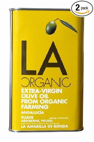 LA Organic Spanish Organic Extra Virgin Olive Oil Suave, 8.8 ...