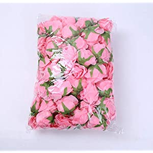 100 Pcs Artificial Silk Rose Flower Artificial Flower Family Wedding Simulation Tea Rose DIY Wedding Flower Wreath Flower Wall,Blue Rose 3