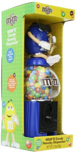 Candyrific M&M Large Dispenser with Candy, 2.14-Ounce, (Colors May Vary)
