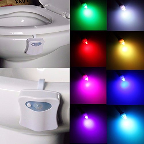 Kingso led toilet night light motion activated seat sensor kingso led toilet night light motion activated seat sensor bathroom lamp toilet bowl light motion sensing night light 8 colors mozeypictures Images