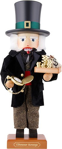 German Christmas Nutcracker Ebenezer Scrooge, limited - 51,5cm / 20.3inch - Christian Ulbricht by Authentic German Erzgebirge Handcraft