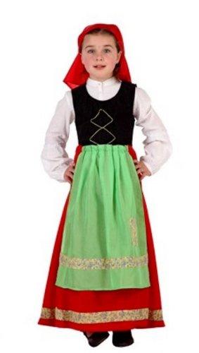 Atosa - Disfraz de folklore para niña, talla 10-12 años ...