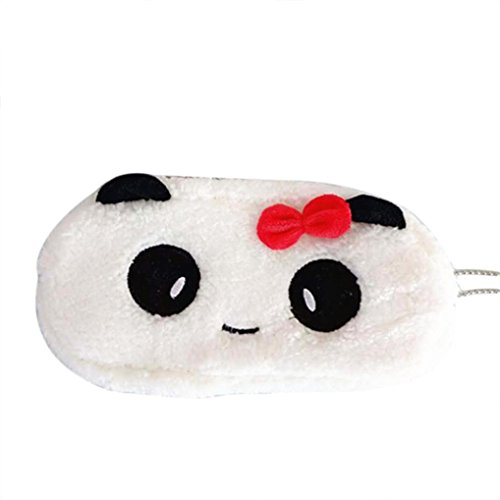 Iuhan Lovely Animal Pattern Zipper Vintage Cute Soft Plush Pencil Pen Case Novelty Makeup Cosmetic Pouch Bag (A, A, 1) from Iuhan