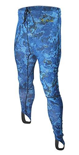Tilos Camouflage 5.5oz Spearfishing UPF 50+ Rash Guard Shorts (XL, Blue Camo)