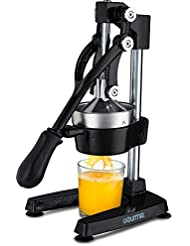 Gourmia GMJ9970 Large Citrus Juicer – Commercial Grade Press Orange and Lemon Press Juicing -Extracts Maximum Juice – Heavy Duty Cast Iron Base and Handle - Non Skid Suction Foot Base
