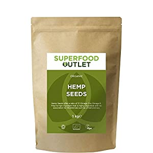 Superfood Outlet Organic Shelled Hemp Seeds 1kg