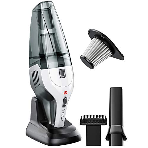 Handheld Vacuum, Cordless Vacuum Cleaner with Stainless Steel HEPA Filter, Rechargeable 14.8V Li-ion Battery, Quick Charge Tech, Cyclone Suction for Home Pet Hair, Car Cleaning