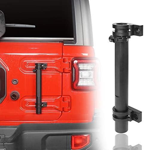 u-Box Tailgate Hinge Mounted Single Flag & Antenna Holder Kit for 2018 2019 Jeep JL Wrangler