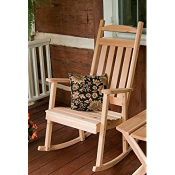 amazon com cedar classic front porch rocker stained amish made