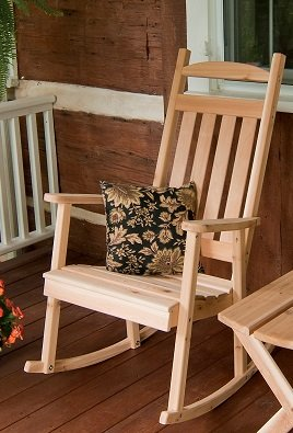 Cedar Classic Front Porch Rocker - STAINED- Amish Made USA -Mushroom
