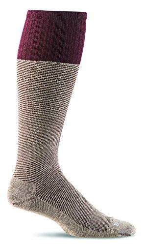 Sockwell Men's Bart Graduated Compression Socks, Khaki, Medium/Large