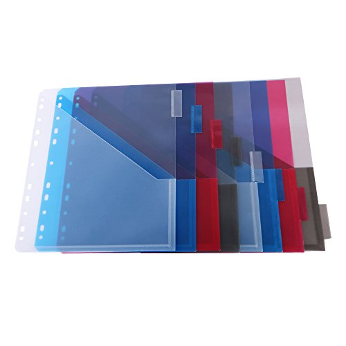 Eagle Two-Pocket Plastic Dividers, 8 Multicolor Tabs, Holiday (3 Ring Binder Inserts)