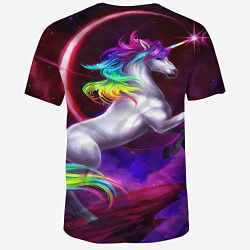 Sudadera As S 3d Wehor Para De Manga Unicornio Suave xxl Hombre Rapido Camisa Secado Polo Photo Algodón Casual Corta Camisetas Colorido 6FqTFgH