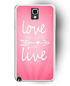 Hard Plastic iPhone Cases Designed By UKASE - Love the Life You Live for Samsung Galaxy N3 sale on ZENG Case