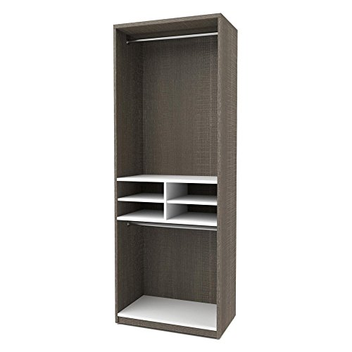 bestar-cielo-295-multi-storage-cubby-unit-in-bark-gray-and-white