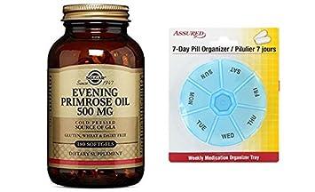 Solgar - aceite de onagra 500 mg cápsulas 180 cuenta de noche con gratis 7 días