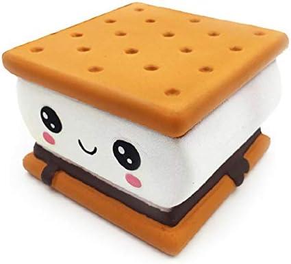 新しいファッションの漫画チョコレートクッキーは、おもちゃのギフト用玩具、Squishies PUフワフワ遅い立ち上がり緩やかな回復のおもちゃを、リバウンド (Color : Cute cookies)
