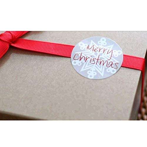Stickers For - 75pcs Diy Bag Candy Box Decor Quot Merry Christmas Snowflake Seal Sticker Point Gift Wholesale - Phone Keys Calendar Snowboard Pinewood Year Laptops Suitcases Weddin