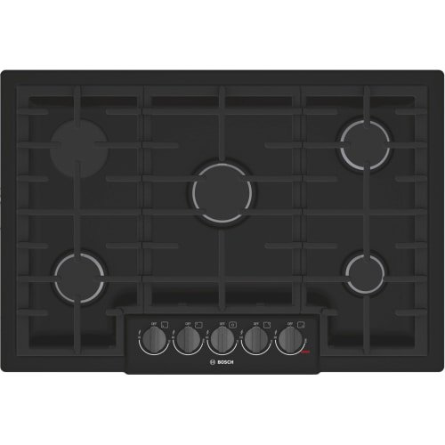 Bosch NGM8046UC 800 Series 30 Inch Wide Built-In Gas Cooktop with 5 Sealed Burne, Black (Bosch Cooktop 30)