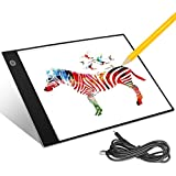 Aitsite Tracing Light Box for Drawing, A4 LED Light Box Tracer USB Power Ultra Thin Portable Artist Light Pad for Painting, Animation