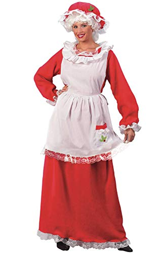 Fun World Costumes Women's Adult Mrs.Claus Promo Suit, Red/White, One Size]()