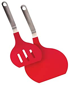 Jumbo Spatula 2-Piece Set - Heat Resistant Wide Spatula Turner For Cooking Omelets, Stir-Fry And More